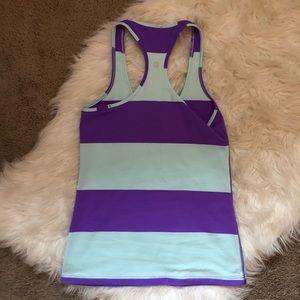 lululemon athletica Tops - Lululemon Bold Stripe Power Purple Cool Racerback